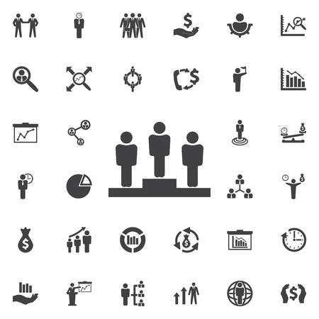 employee of the month winner icon. Business icons set