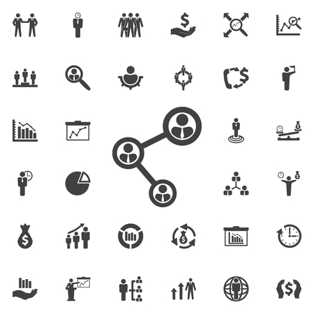 People connecting icon. Business icons set