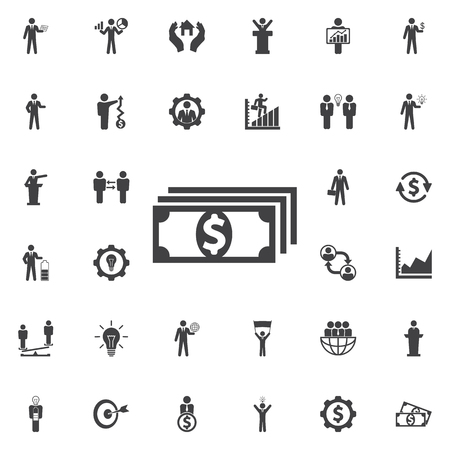 money packs: Vector money Icon. Business icons set