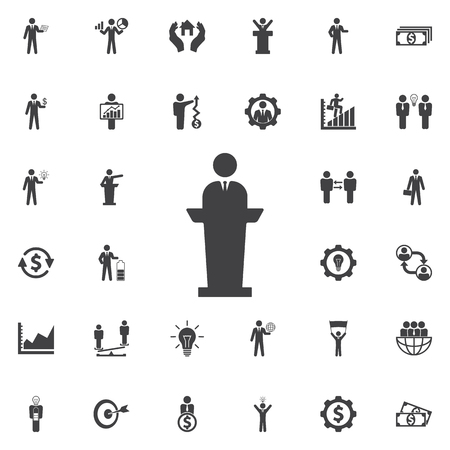 Speaker man Icon. Business icons set