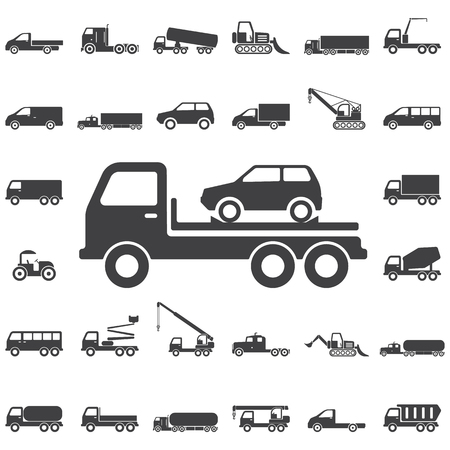 evacuating: Auto Evacuator Icon. Transport icons universal set for web and mobile