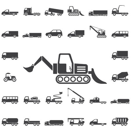 Loader icon. Transport icons universal set for web and mobile Illustration