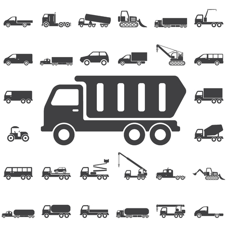 Kipper pictogram. Transport pictogrammen universele set voor web en mobiel