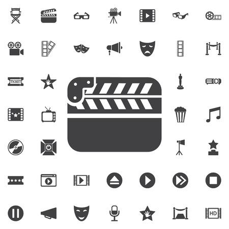 Cinema icon. Movie vector on the white background