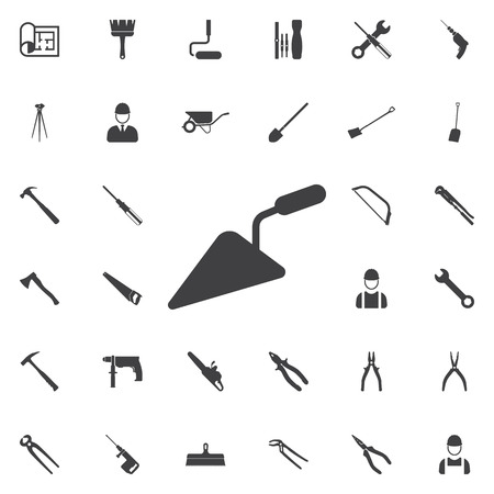 house construction: putty knife icon. Construction icons universal set for web and mobile