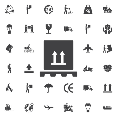 storage box: Delivery box icon vector. Set of Post delivery icons