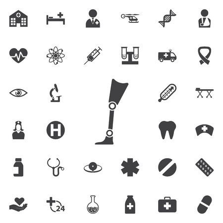 Prosthesis icon Vector Illustration on the white background. Medical concept set.