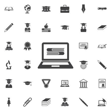 Ebook icon. Education set of icons