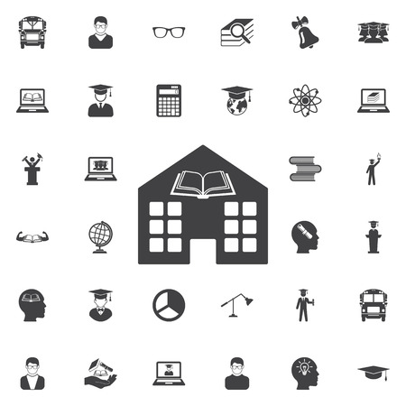 Library Icon. Education icons universal set for web and mobile