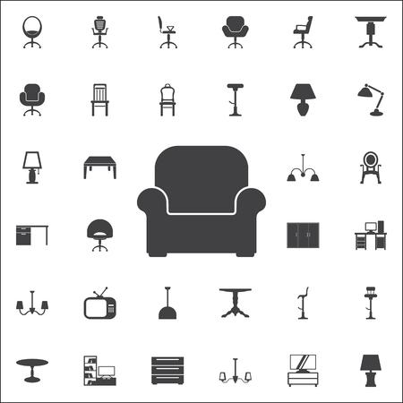 Vektor Sessel Symbol. Set von Möbeln Symbole Standard-Bild - 87702603