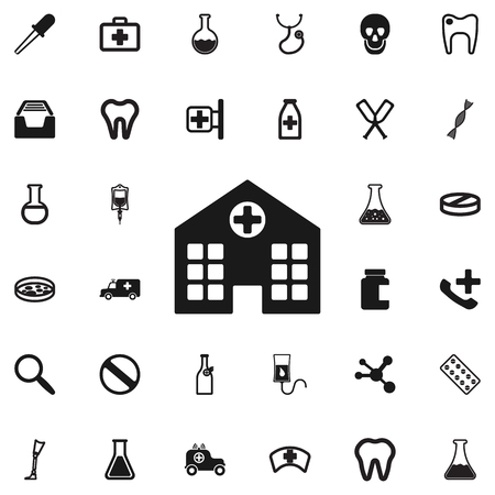 Hospital icon. Medical icons universal set for web and mobile