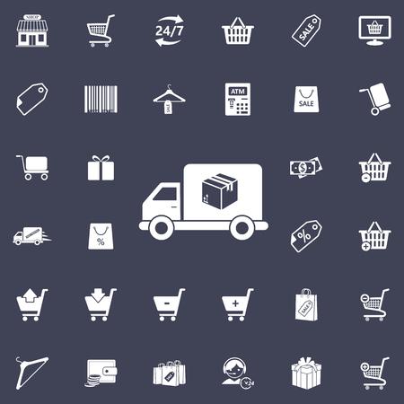 Post car icon Vector illustration.