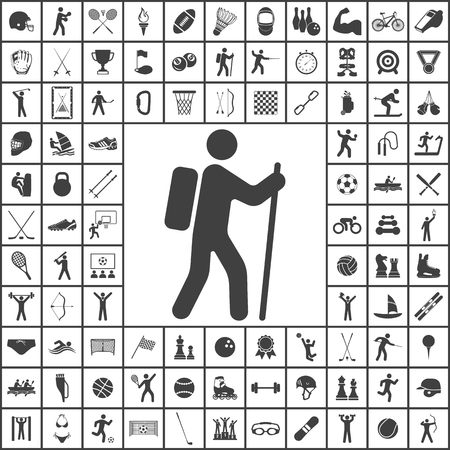 Climber icon. Sport set of icons Illustration