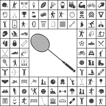 Badminton icon. Sport set of icons