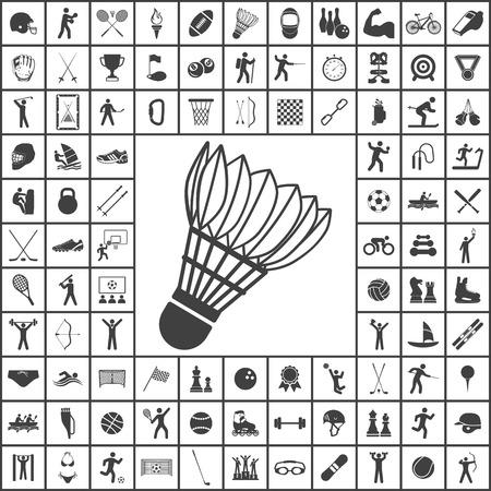 Badminton icon. Sport set of icons Vector Illustration