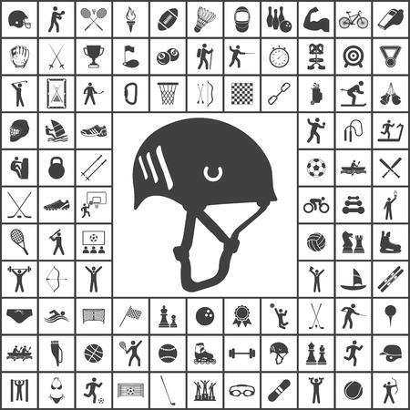 Kletterhelm-Symbol. Sport Satz von Icons