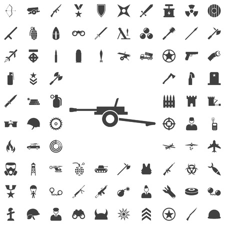 Set of weapon icons Stock Vector - 87701132