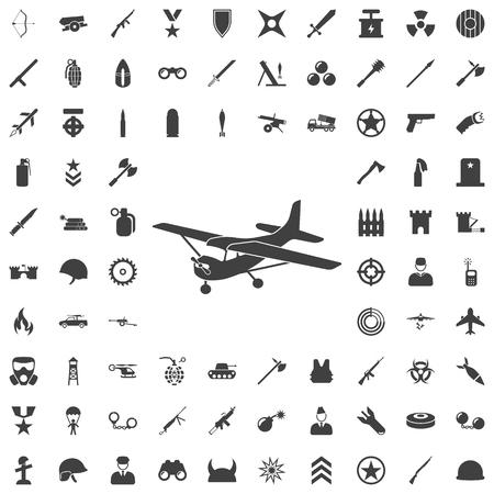 Plane icon. Set of weapon icons Vetores