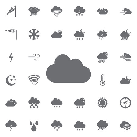 Cloudy icon. Weather icons universal set for web and mobile.