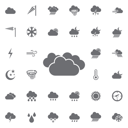 cloudy icon. Weather icons universal set for web and mobile Çizim
