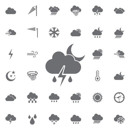 Weather icons universal set vector illustration.