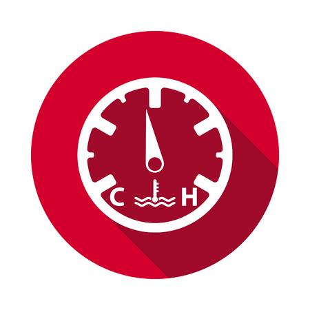 Temperature dashboard flat icon.