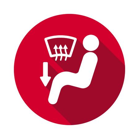 Air button dashboard flat icon