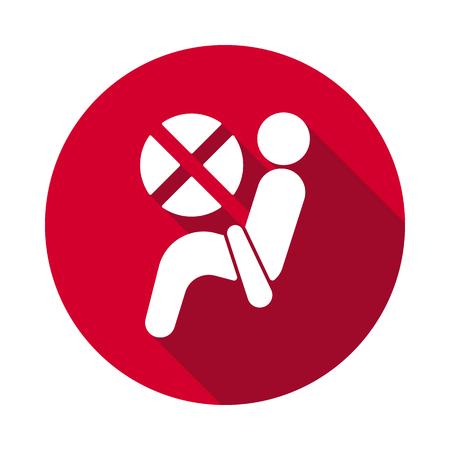 Airbag dashboard flat icon