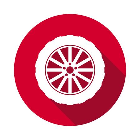 Wheel dashboard flat icon