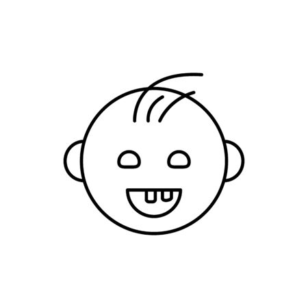 Milk tooth, baby icon. Simple line, outline vector elements of child for ui and ux, website or mobile application on white background