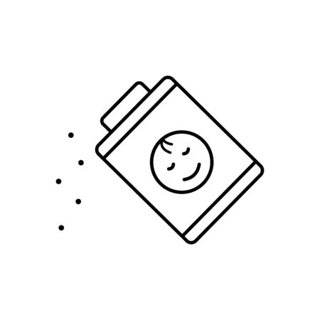 Powder, baby icon. Simple line, outline vector elements of child for ui and ux, website or mobile application on white background