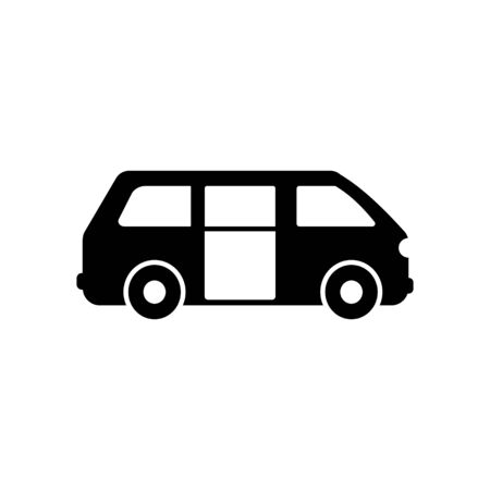 Van icon. Simple vector public transport icons for ui and ux, website or mobile application on white background