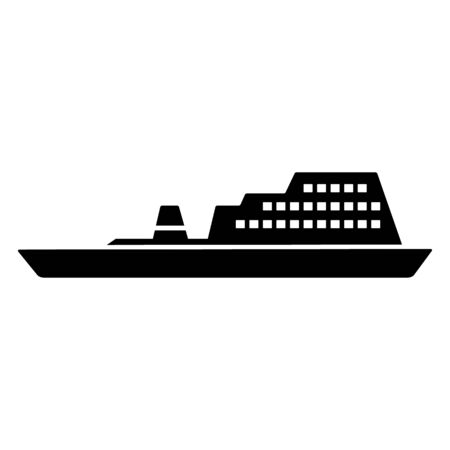 Ferry, ship icon. Simple vector public transport icons for ui and ux, website or mobile application on white background Illustration