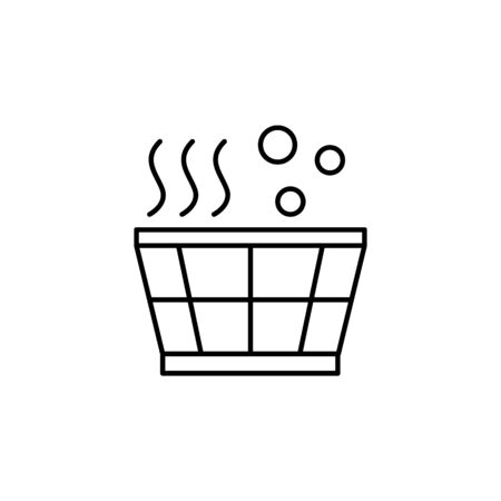 Sauna, basin icon. Simple line, outline vector elements of body care for ui and ux, website or mobile application on white background