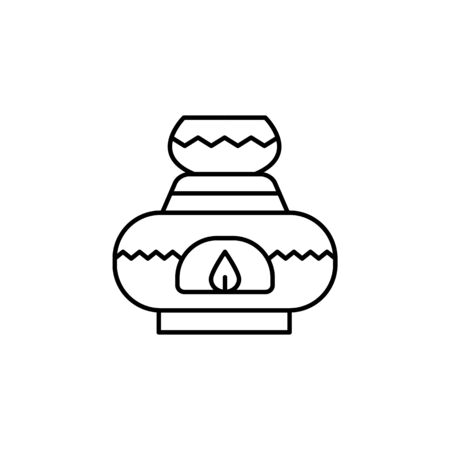 Candle, spa icon. Simple line, outline vector elements of body care for ui and ux, website or mobile application on white background