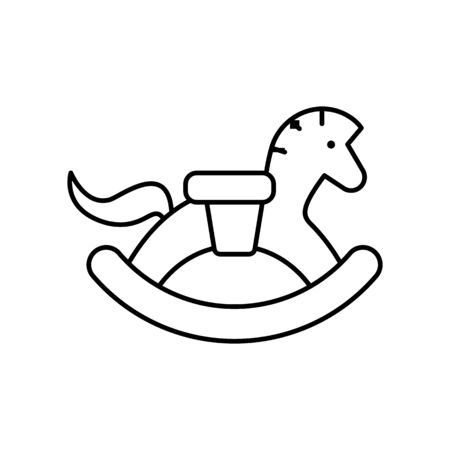 Rocking horse, toy icon. Simple line, outline vector elements of child for ui and ux, website or mobile application on white background