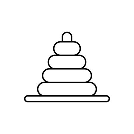 Game of skill, rings, stacking icon. Simple line, outline vector elements of child for ui and ux, website or mobile application on white background