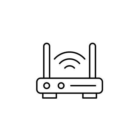 Modem, wifi icon. Simple line, outline vector elements of smart home for ui and ux, website or mobile application on white background
