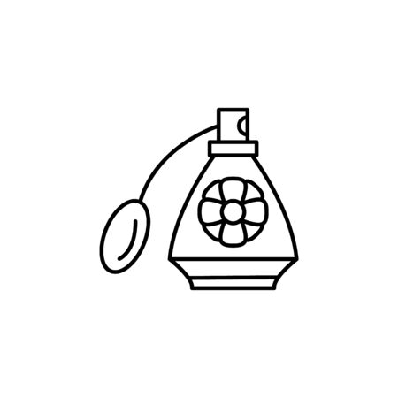 Perfume, flower icon. Simple line, outline vector elements of body care for ui and ux, website or mobile application on white background