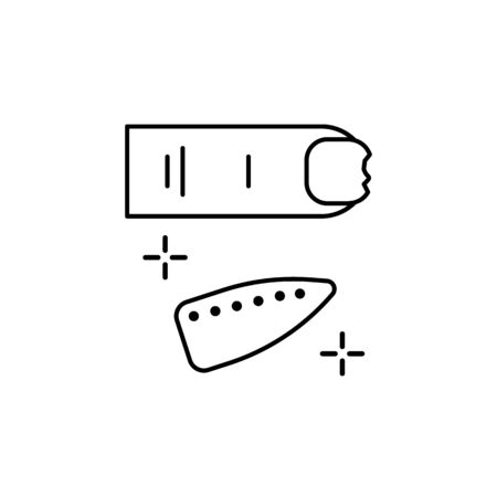 Nail, broken, gellak icon. Simple line, outline vector elements of beauty salon things for ui and ux, website or mobile application on white background