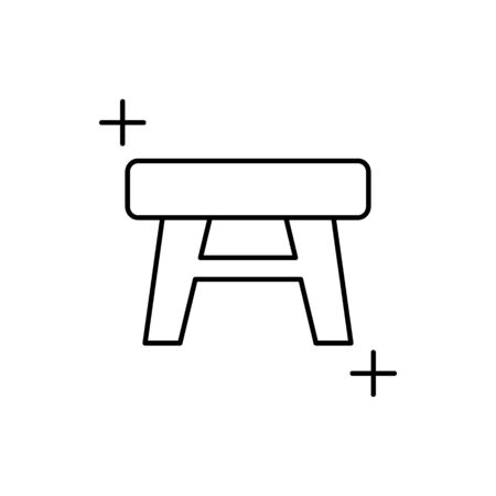 Stool icon. Simple line, outline vector elements of housework for ui and ux, website or mobile application on white background