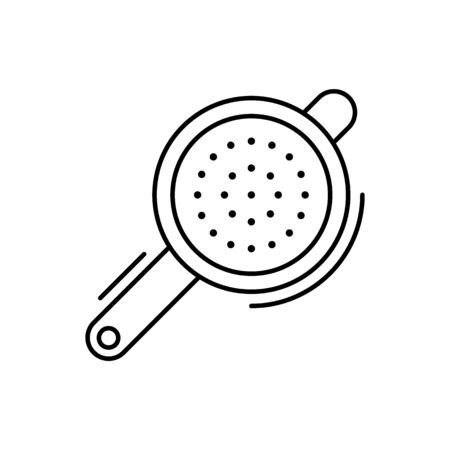 Strainer icon. Simple line, outline vector elements of kitchen object for ui and ux, website or mobile application on white background