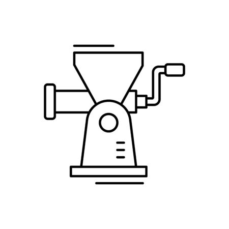 Mincer icon. Simple line, outline vector elements of kitchen object for ui and ux, website or mobile application on white background Illustration
