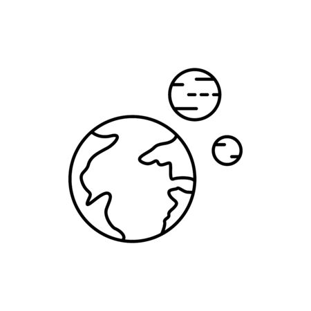 planet concept line icon. Simple element illustration. planet concept outline symbol design from space set. Can be used for web and mobile on white background