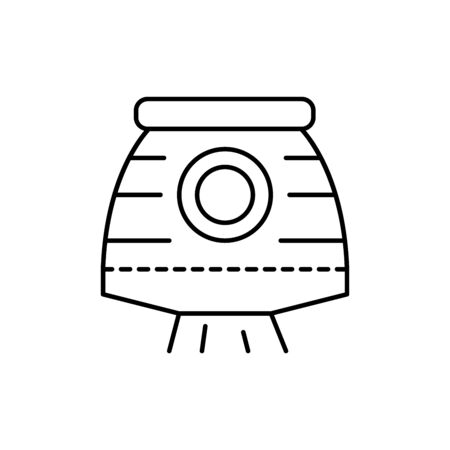 space, capsule concept line icon. Simple element illustration. space, capsule concept outline symbol design from space set. Can be used for web and mobile on white background Stock Illustratie