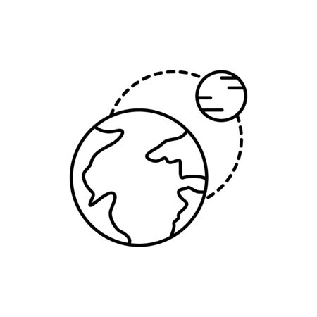 planet, satellite concept line icon. Simple element illustration. planet, satellite concept outline symbol design from space set. Can be used for web and mobile on white background