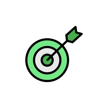 Goal colored icon. Simple color element illustration. Goal concept outline symbol design from Business strategy set. Can be used for web and mobile on white background