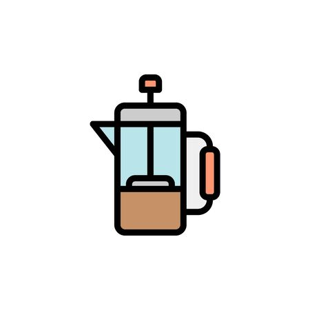 Tea, French press colored icon. Simple color element illustration. Tea, French press concept outline symbol design from Bar set. Can be used for web and mobile on white background