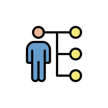 Networking colored icon. Simple color element illustration. Networking concept outline symbol design from Business strategy set. Can be used for web and mobile on white background