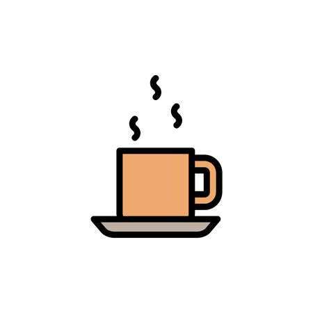 Coffee, cup colored icon. Simple color element illustration. Coffee, cup concept outline symbol design from Bar set. Can be used for web and mobile on white background